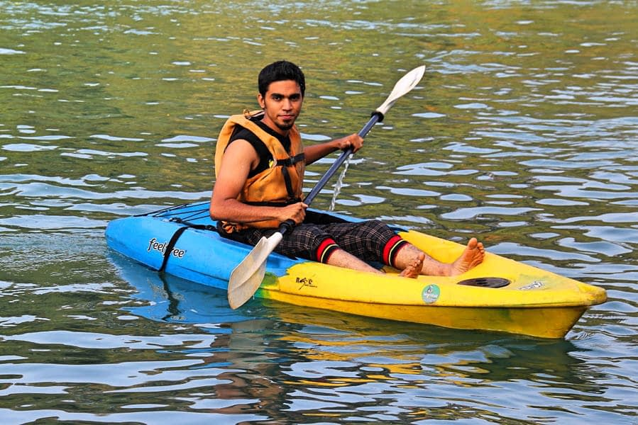 Kayaking on Shambhavi River